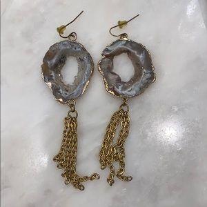 Geode Gold Earrings